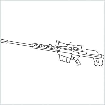 draw M82B Gun