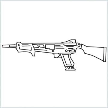 draw MAG-7 Gun