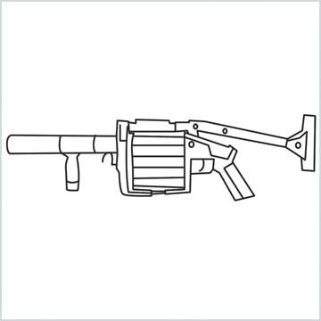 draw MGL140 Gun