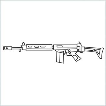 draw PARAFAL Gun