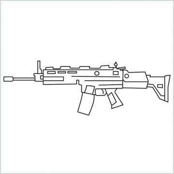 draw SCAR-H Gun