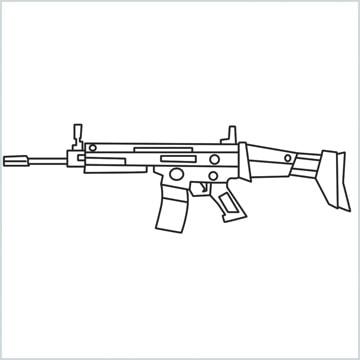 draw SCAR l Gun