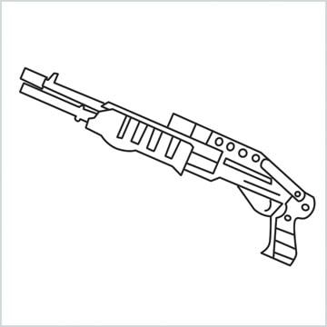 draw SPAS12 Gun