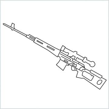 draw SVD Gun