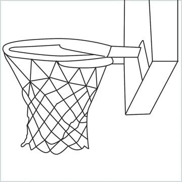 draw a Basketball net