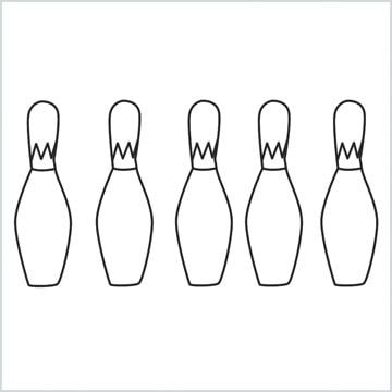 draw a Bowling Bottles