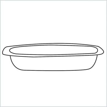 draw a Casserole dish