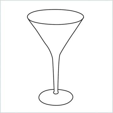 draw a Cocktail glass