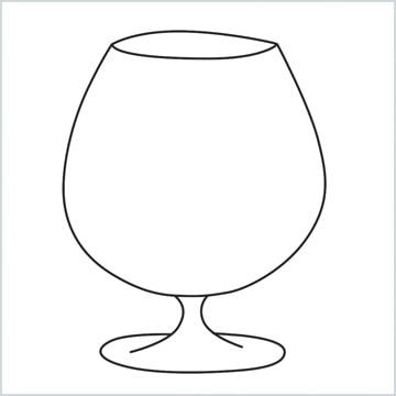 draw a Cognac balloon