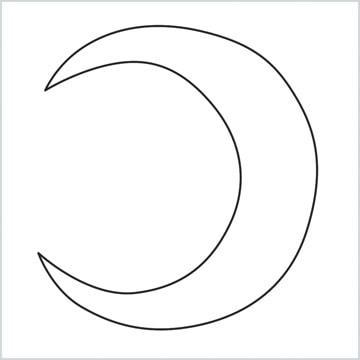 draw a Crescent shape