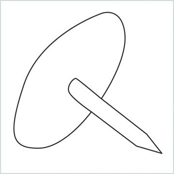 draw a Drawing pin