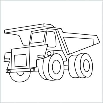 draw a Dump truck