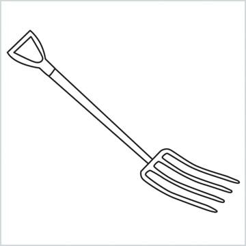 draw a Gardening fork