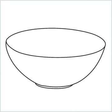 draw a Glass bowl