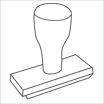 draw a Rubber stamp
