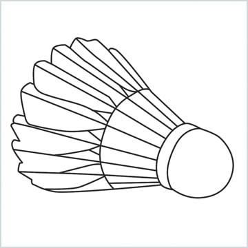 draw a Shuttlecock