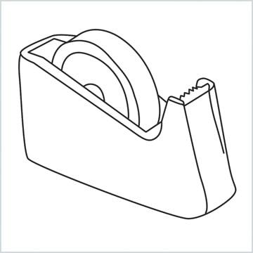 draw a Tape dispenser