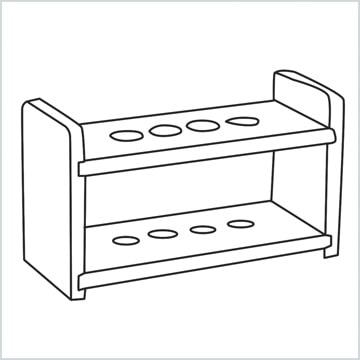 draw a Test tube rack