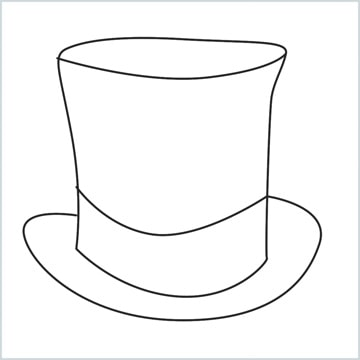 draw a Top hat