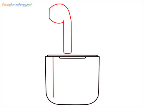 How to draw Apple Airpods step (4)