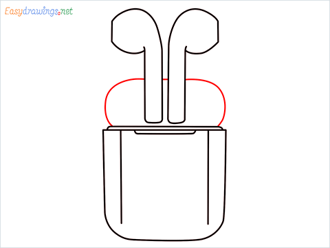 How to draw Apple Airpods step (6)