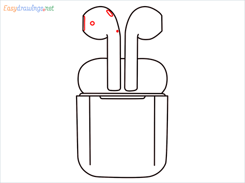 How to draw Apple Airpods step (7)