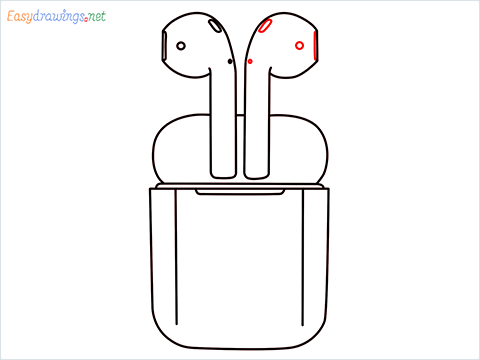 How to draw Apple Airpods step (8)
