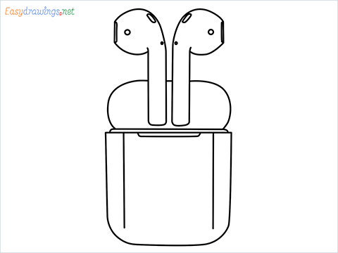 How to draw Apple Airpods step by step for beginners