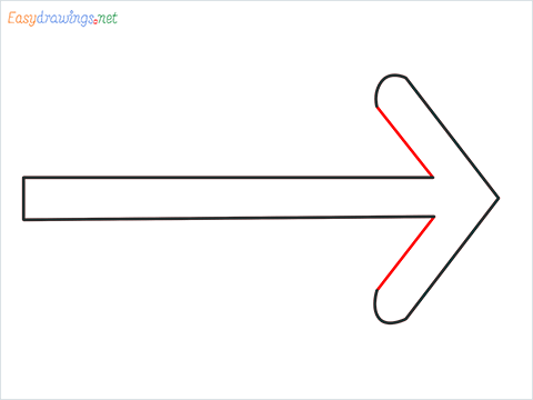 How to draw Arrow shape step (5)
