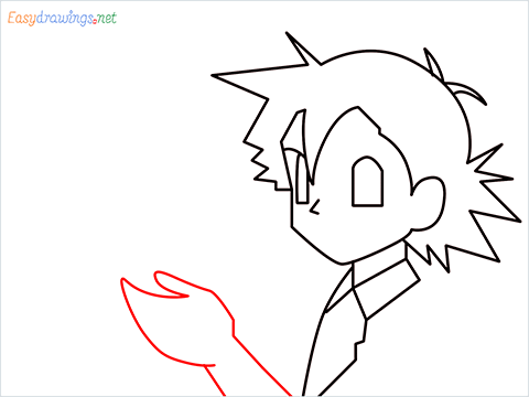 How to draw Ash and Pikachu step (5)