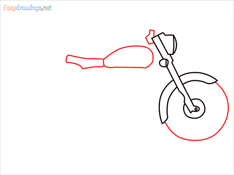How to draw Bullet bike step (4)