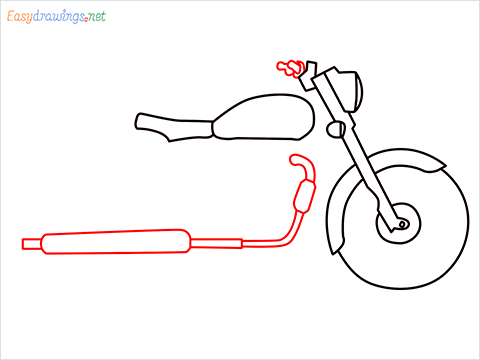 How to draw Bullet bike step (5)