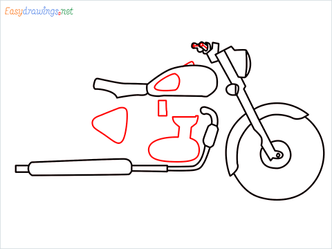 How to draw Bullet bike step (6)