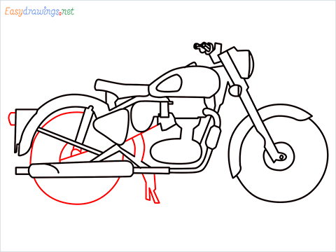 How to draw Bullet bike step (9)