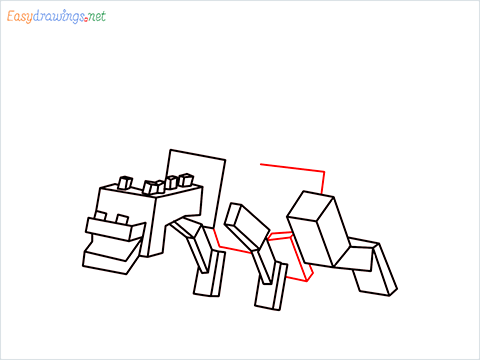 How to draw Ender Dragon step (11)