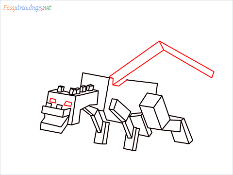 How to draw Ender Dragon step (12)