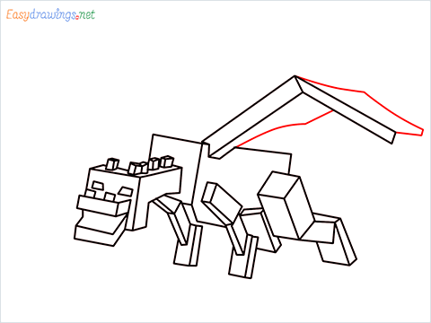 How to draw Ender Dragon step (13)