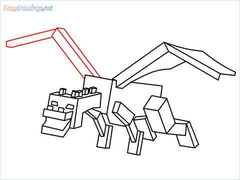 How to draw Ender Dragon step (14)