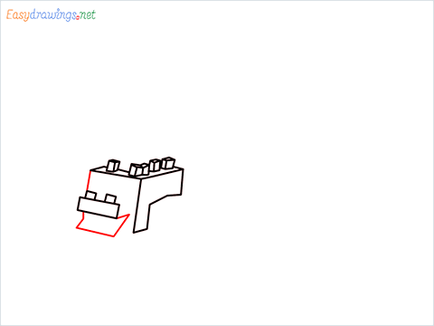 How to draw Ender Dragon step (4)