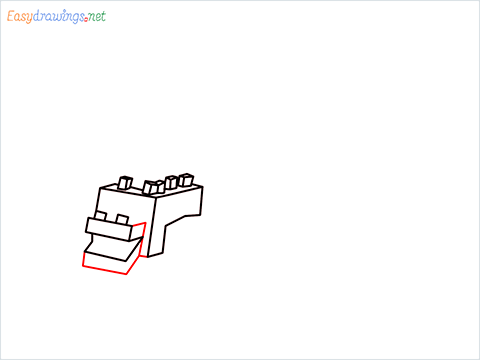 How to draw Ender Dragon step (5)