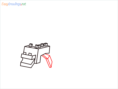 How to draw Ender Dragon step (6)