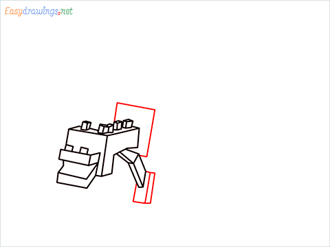 How to draw Ender Dragon step (7)