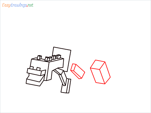 How to draw Ender Dragon step (8)