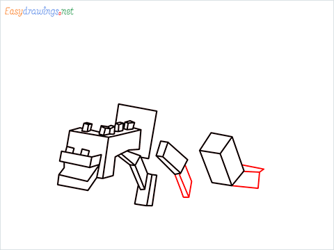 How to draw Ender Dragon step (9)