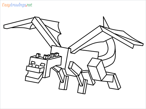 How to draw Ender Dragon step by step for beginners