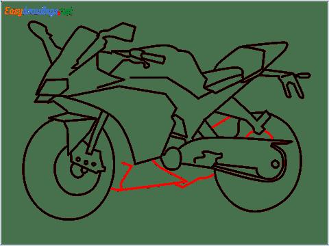 How to draw KTM bike step (10)