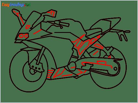 How to draw KTM bike step (11)