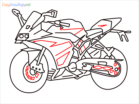 How to draw KTM bike step (12)