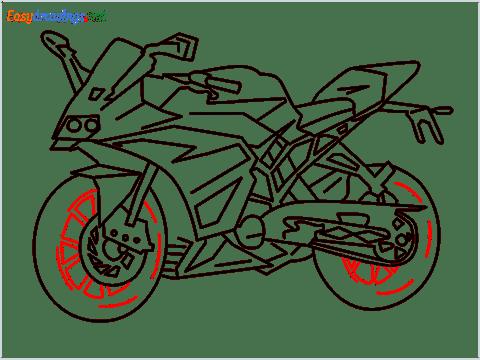 How to draw KTM bike step (13)