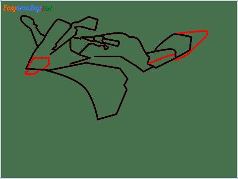 How to draw KTM bike step (5)